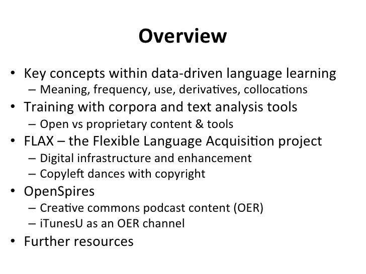 Addressing the Training Resource Deficit Utilizing Open Corpora and OER Slide 2