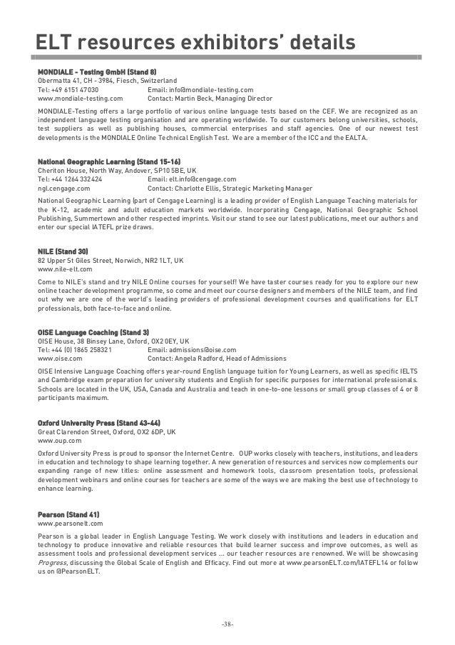 iatefl 2014, Presentation templates
