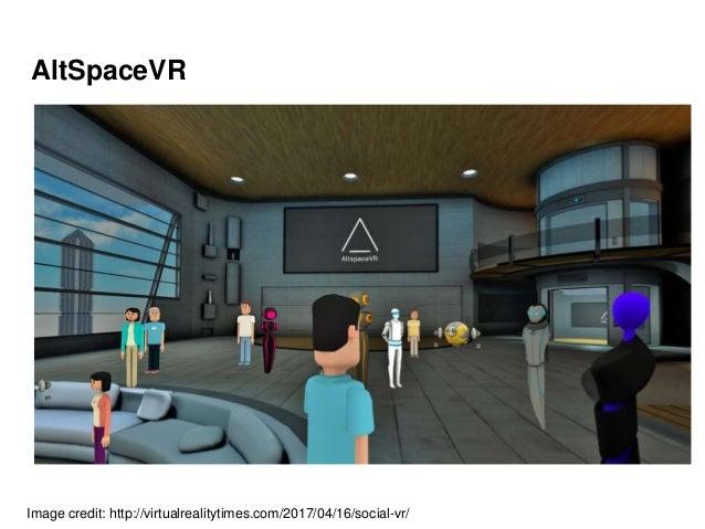 AltSpaceVR Image credit: http://virtualrealitytimes.com/2017/04/16/social-vr/