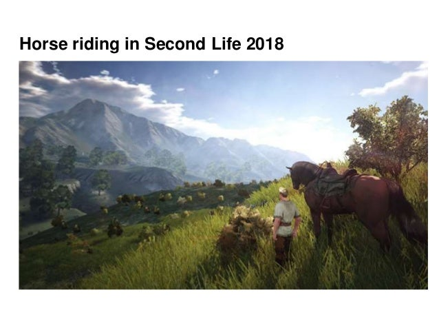 Horse riding in Second Life 2018