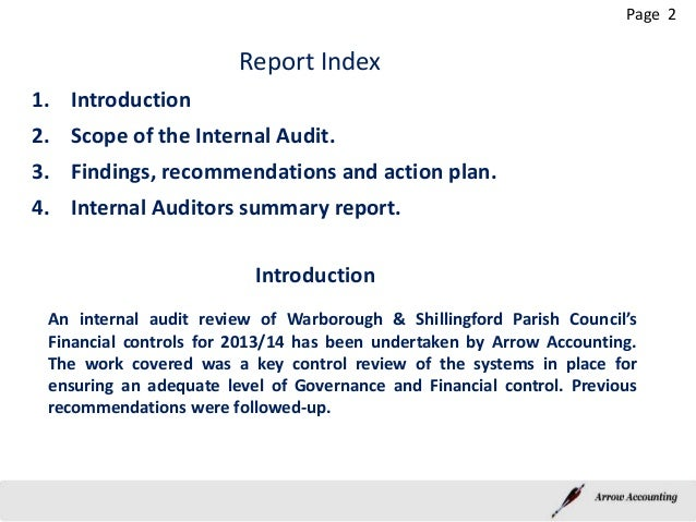 I Audit Report Warborough Final