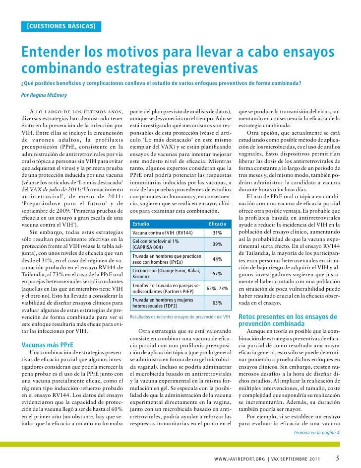 [cuestiones básicas]entender los motivos para llevar a cabo ensayoscombinando estrategias preventivas¿Qué posibles benefic...