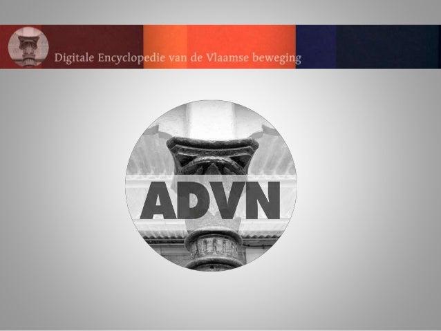 DEVB Correcties, aanvullingen en nieuwe artikels ODIS DIANE […] ADVN DBs DBPedia AP I