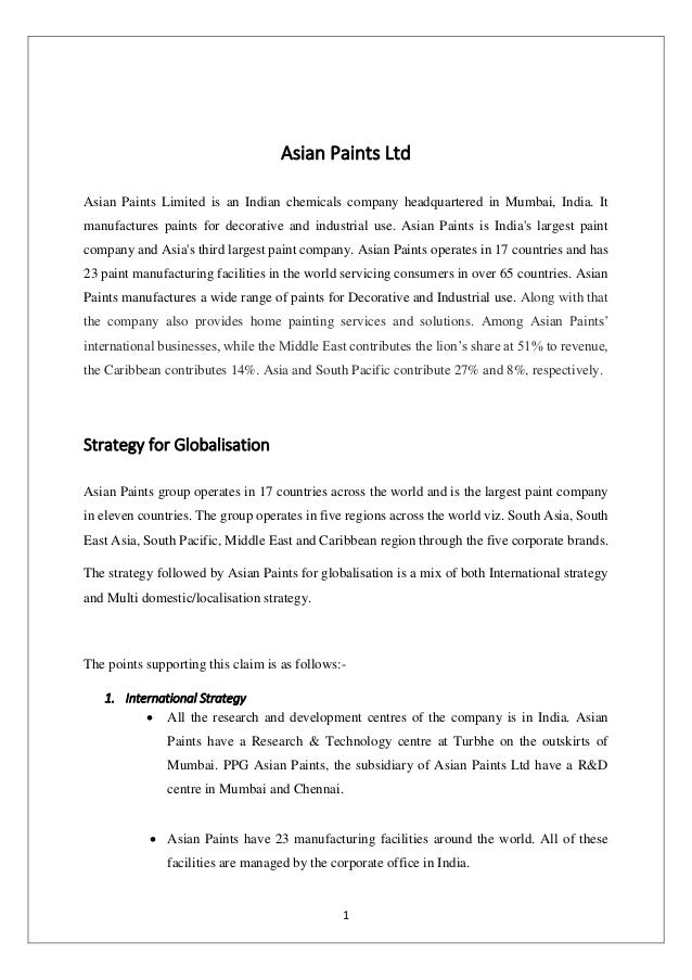 differentiation strategy of asian paints With a differentiated customer experience strategy and ever-increasing operational efficiency, asian paints could now focus on combining these 2 to create new business models and unlock additional sources of revenues.