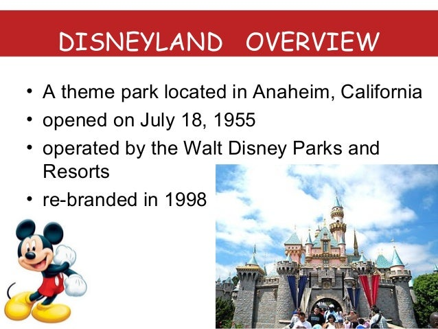 disneyland analysis View the basic dis stock chart on yahoo finance change the date range, chart  type and compare walt disney company (the) against other companies.