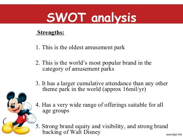 walt disney swot analysis 2010
