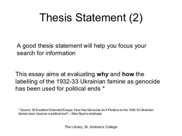 Extended essay thesis