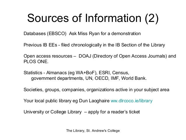 Ib extended essay resources