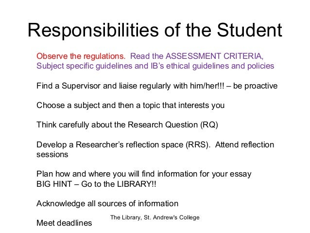 essay on role of students in school