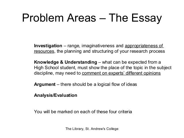 Ib extended essay thesis statement