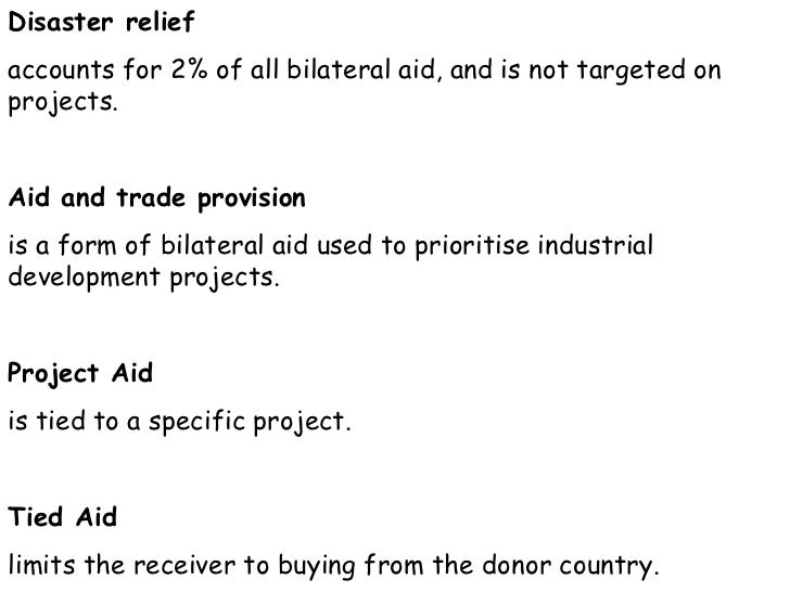 IB Geography: Resources: Overseas Aid