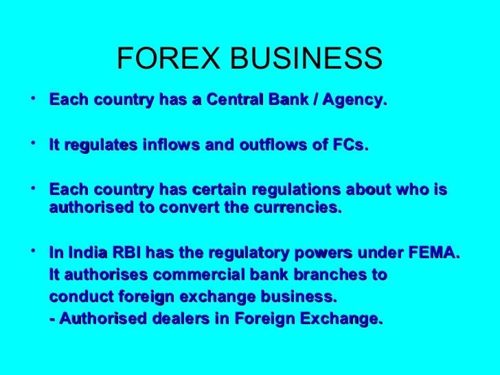 Authorised forex dealers in india