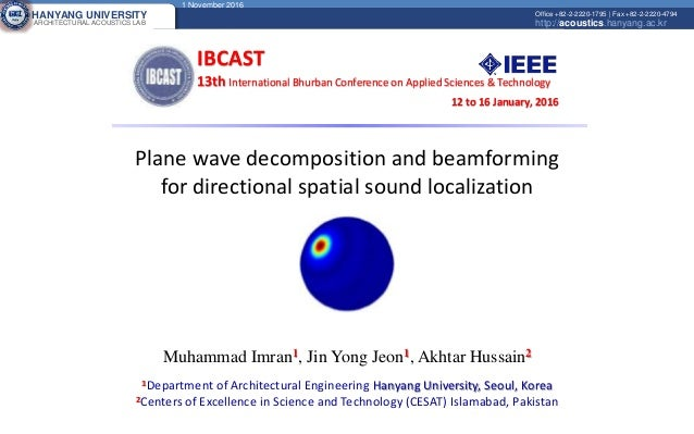 Plane wave decomposition and beamforming for directional