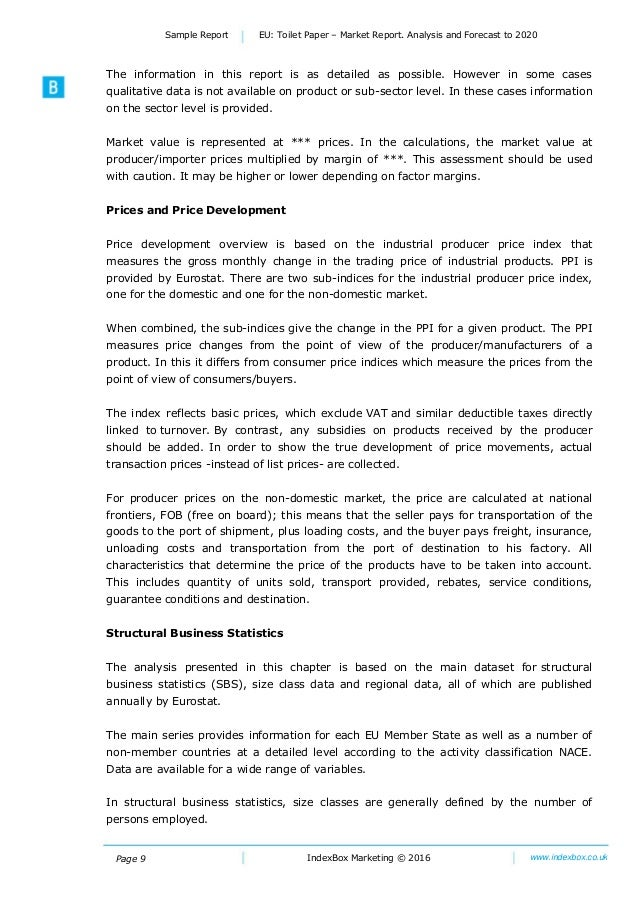 Page 9 IndexBox Marketing © 2016 www.indexbox.co.uk Sample Report EU: Toilet Paper – Market Report. Analysis and Forecast ...