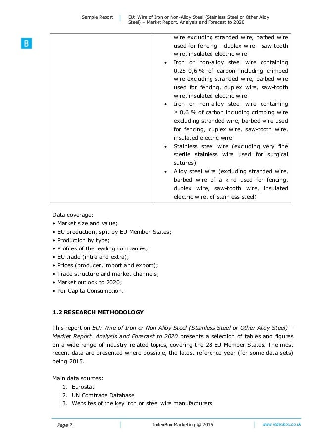 EU: Wire Of Iron Or Non-Alloy Steel (Stainless Steel Or Other Alloy S…