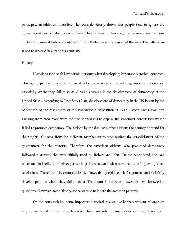 tok essay example