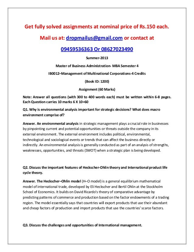 Ib0012–management of multinational corporations