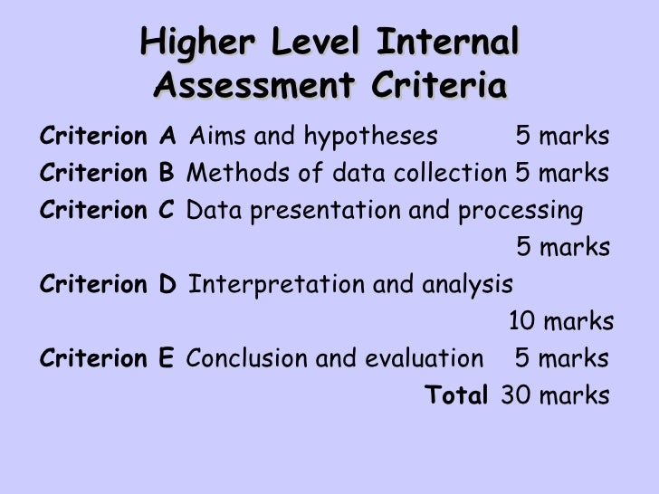business hl practice internal assessment