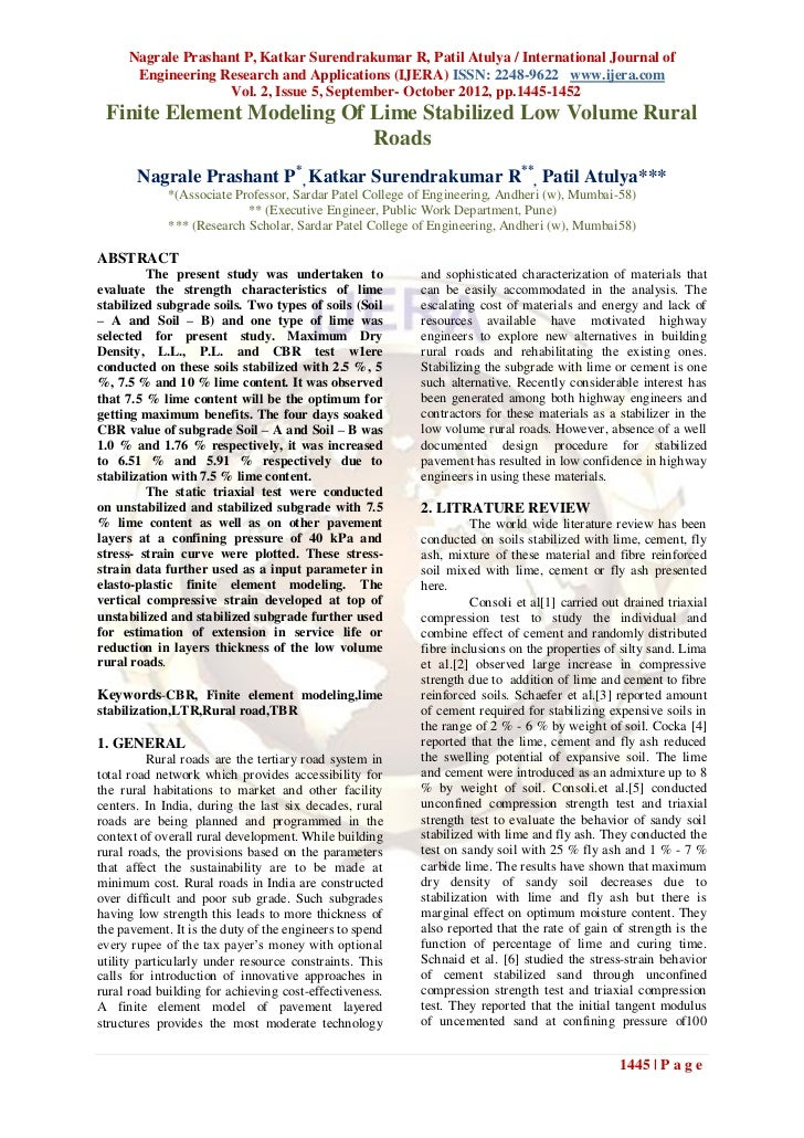Nagrale Prashant P, Katkar Surendrakumar R, Patil Atulya / International Journal of      Engineering Research and Applicat...