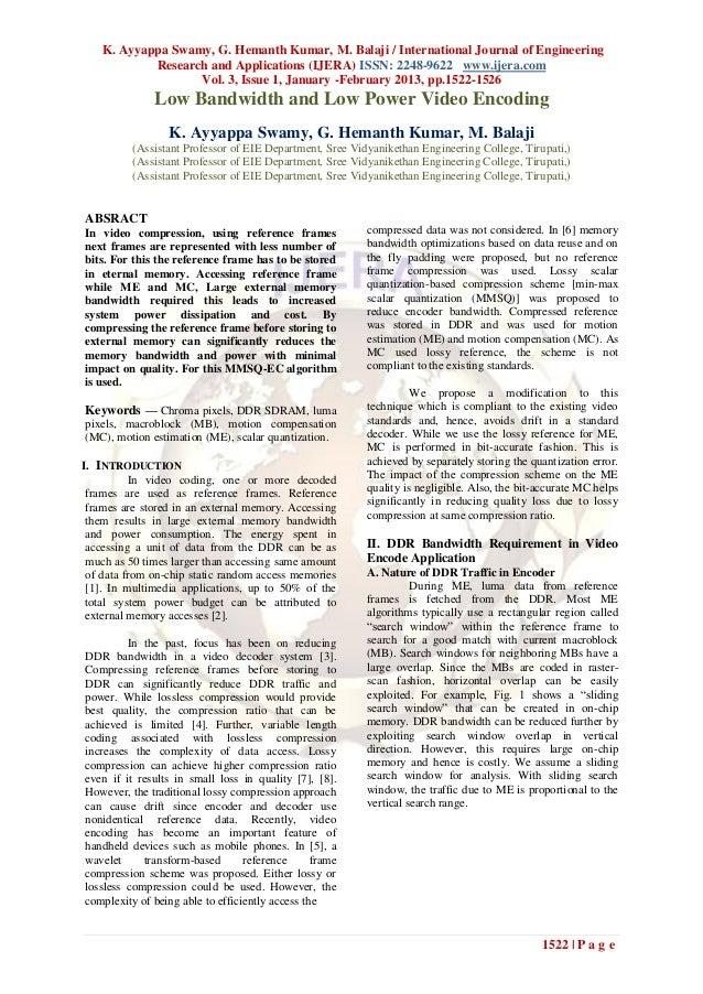 K. Ayyappa Swamy, G. Hemanth Kumar, M. Balaji / International Journal of Engineering            Research and Applications ...