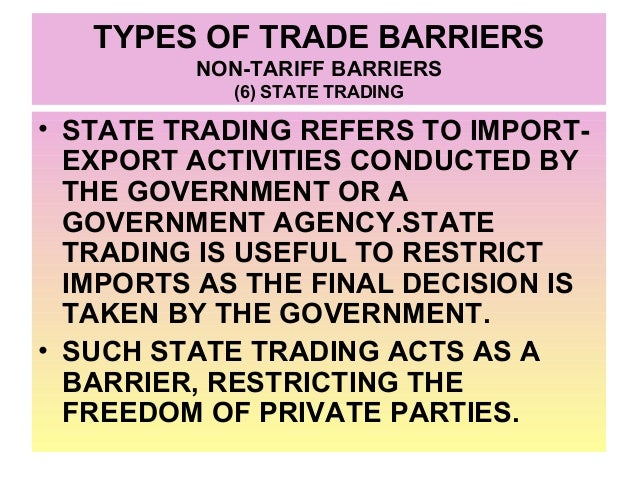 non trade barriers A non-tariff barrier is any legal requirement that an imported product or service  must fulfil to be legal and fit for use in the destination country.