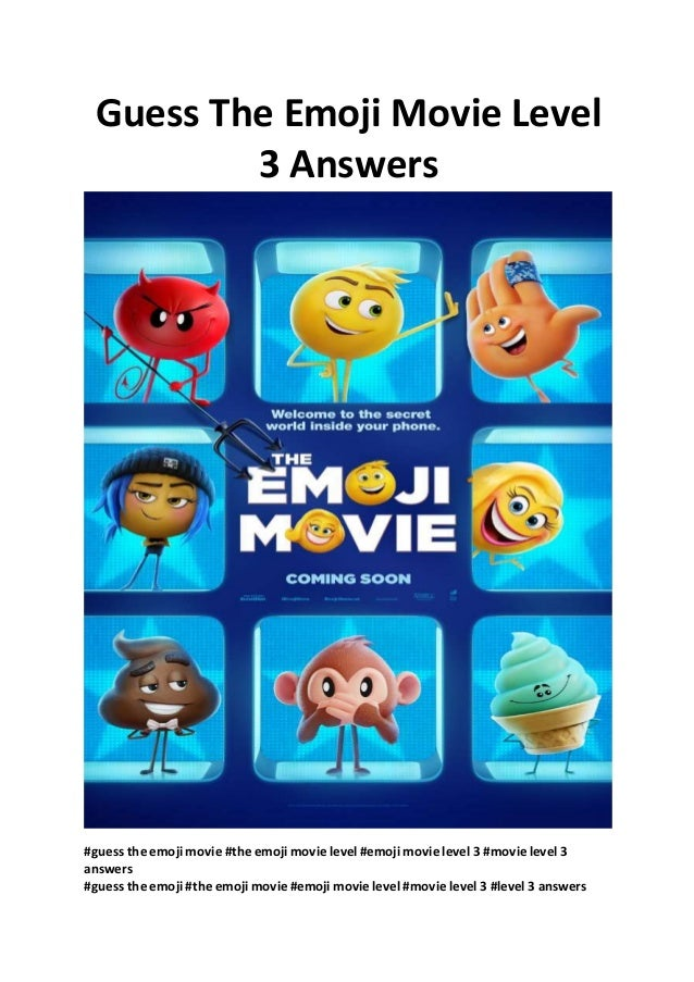 Guess The Emoji Movie Level 3 Answers Full Free Movies Online Wwwm