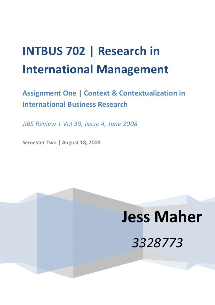 Ib702 assign1-jmaher 3328773 submission