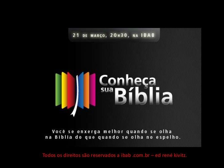 telas do  02 - Conheça Sua Bíblia - PANORAMA DO ANTIGO TESTAMENTO Slide 2