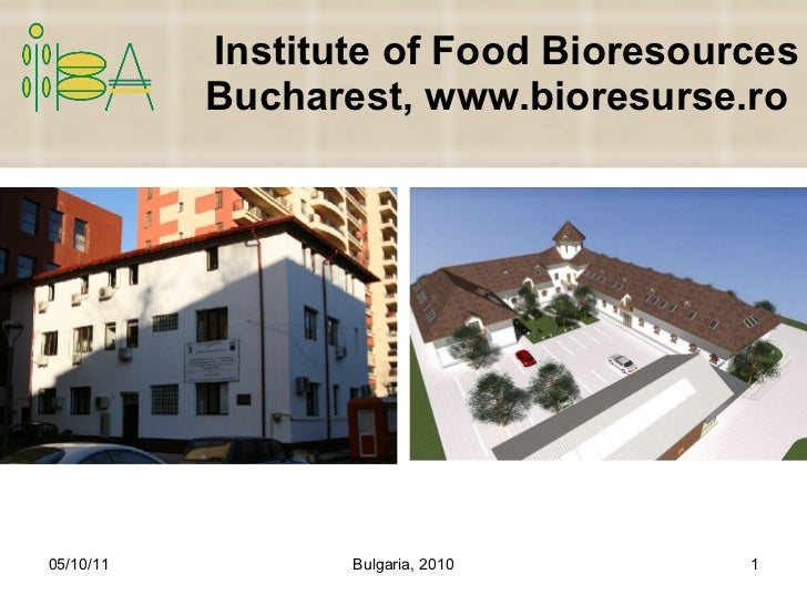 Institute of Food Bioresources Bucharest, www.bioresurse.ro