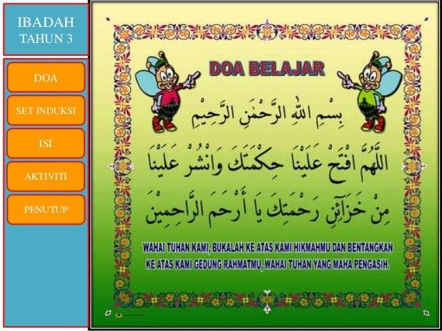 IBADAH TAHUN 3 DOA SET INDUKSI ISI AKTIVITI PENUTUP