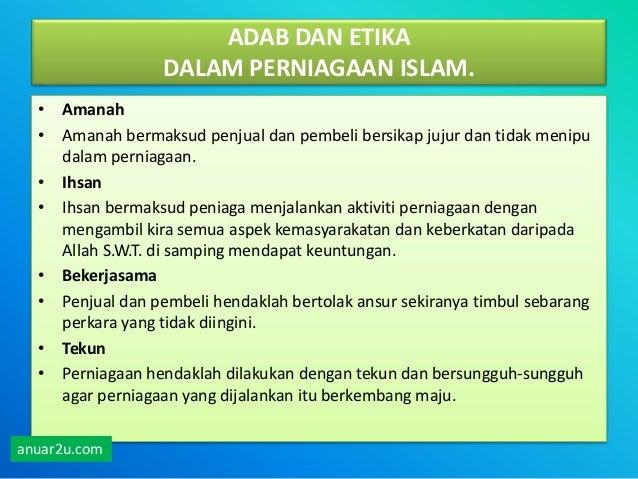 Perniagaan Dalam Islam Sem 4