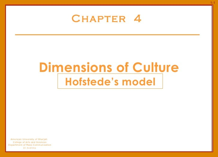 Chapter  4 Dimensions of Culture American University of Sharjah  College of Arts and Sciences Department of Mass Communica...