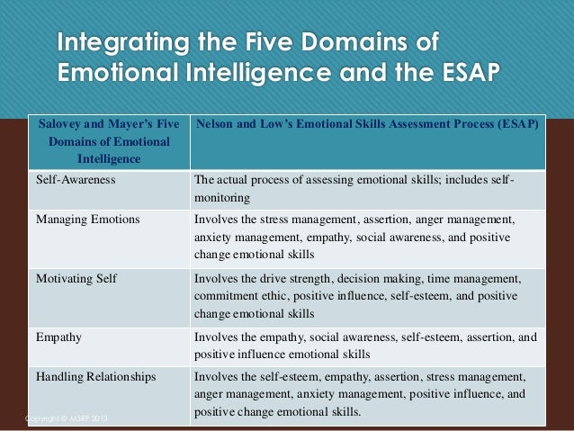 emotional intelligence thesis paper In the book emotional intelligence by daniel goleman, the central thesis that he tries to point out is that emotional intelligence may be more important than iq in determining a person's well being and success in life.