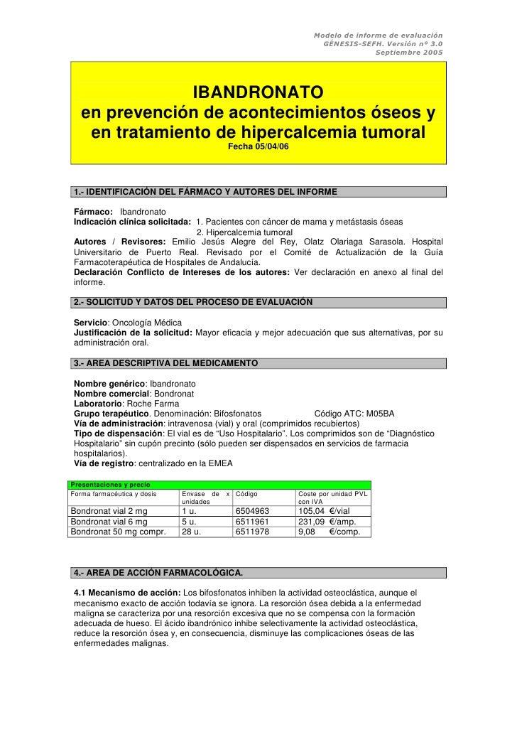 Modelo de informe de evaluación                                                                GÉNESIS-SEFH. Versión nº 3....