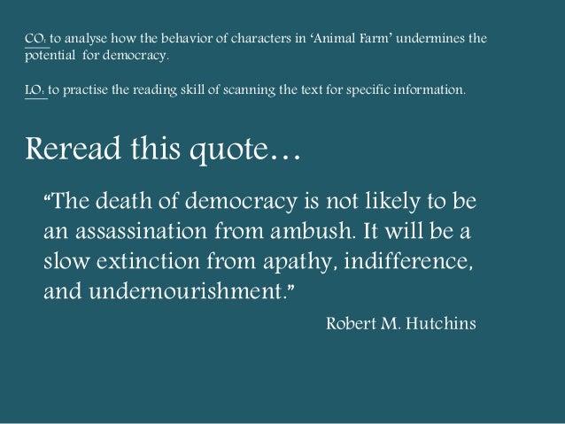 democracy in animal farm