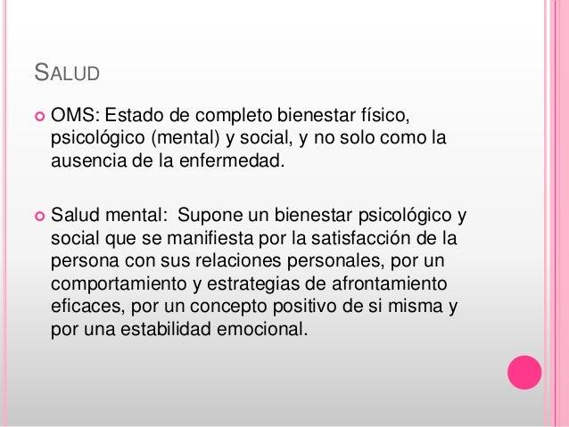 Bases conceptuales para la enfermería en salud mental Slide 3