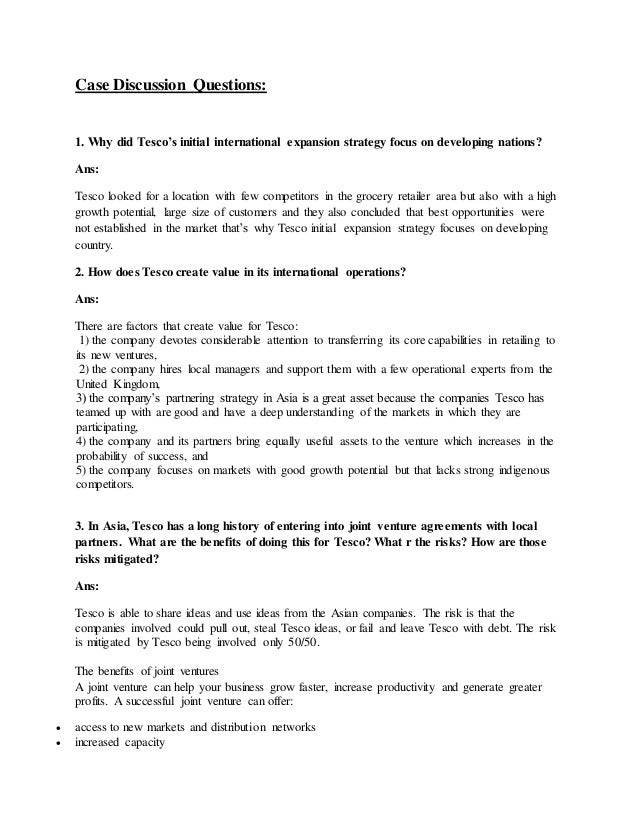 business strategy assignment tesco