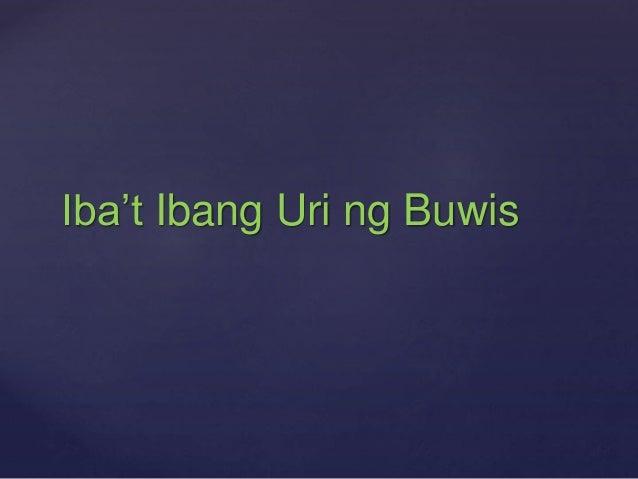 Iba't Ibang Uri ng Buwis