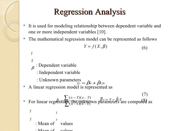 regression analysis in thesis Chapter 4 data analysis and findings in this chapter the results of the data analysis are presented the data were collected and then processed in response to the.