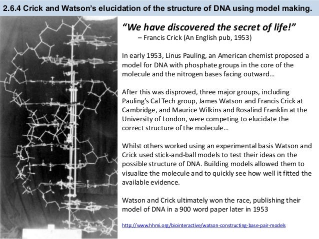 Elucidating the structure of dna