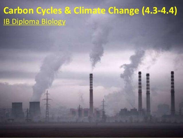 Carbon Cycles & Climate Change (4.3-4.4) IB Diploma Biology