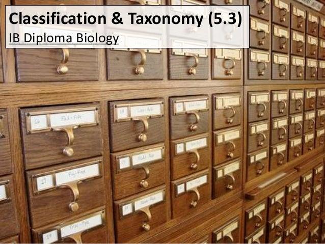 Classification & Taxonomy (5.3) IB Diploma Biology