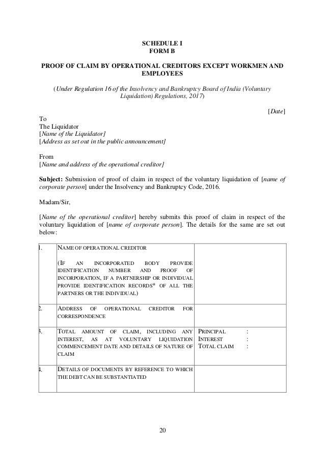 Ibbi Voluntary Liquidation Regulations