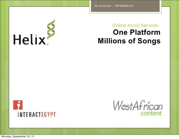 IBC Amsterdam - SEPTEMBER 2011                                        Online Music Services                               ...