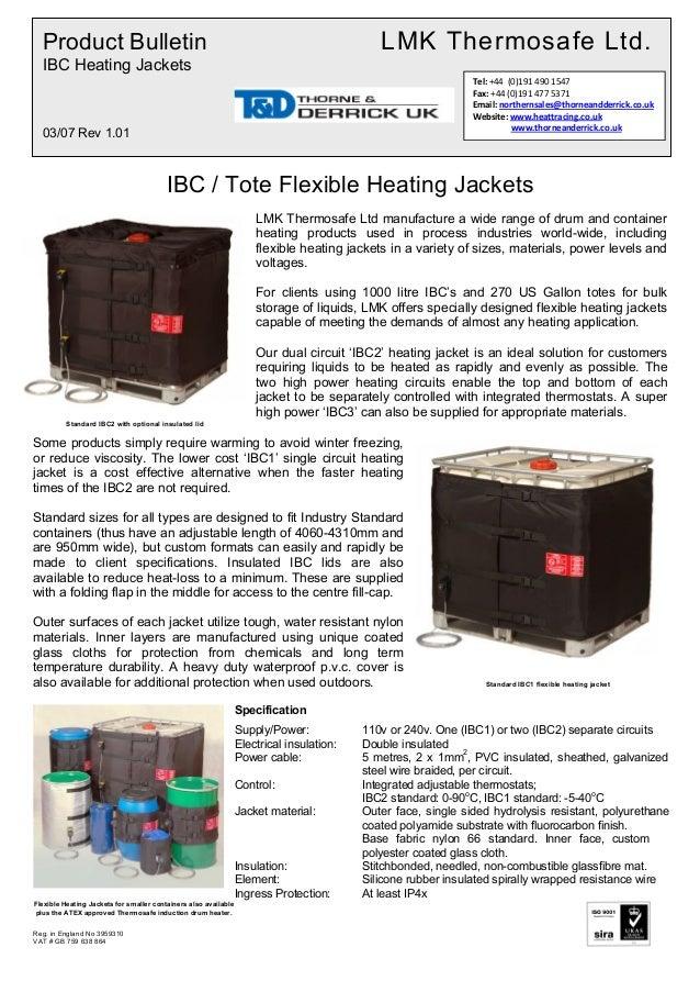 Ibc1 Ibc Heater Jacket Frost Protect Heated Ibc Jackets Spec Sheet