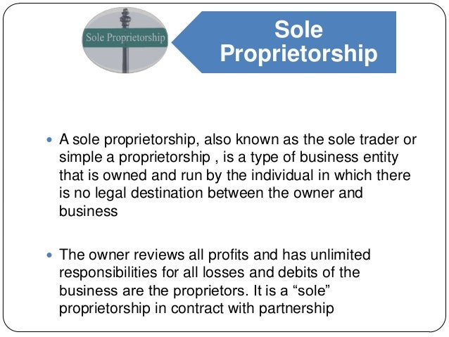 Presentation on Sole Propeitorship