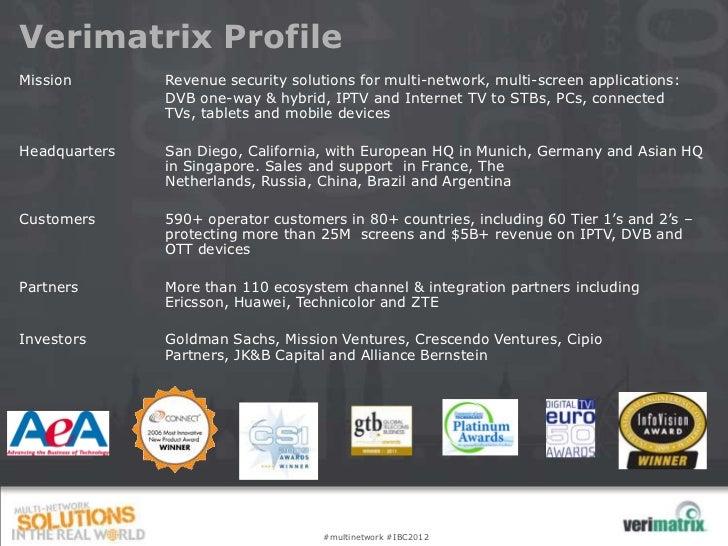 Ibc forum 2012-verimatrix Slide 2
