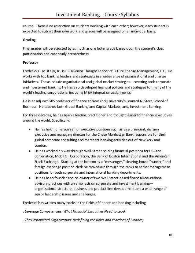 investment banking summer associate cover letter How to write an investment banking resume that gets you offers at the associate copy this experienced investment banking-specific resume/cv and cover letter.