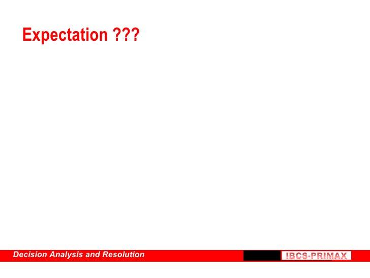 Expectation ???