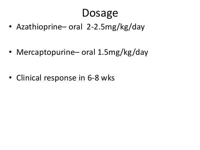 Mercaptopurine Crohn'S Disease Dose
